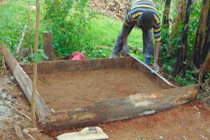 The Water Project: Masuveni Community, Masuveni Spring -  Sanitation Platform Construction