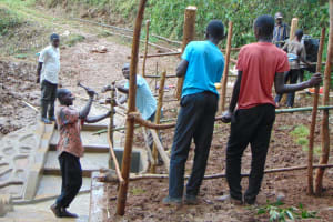 The Water Project: Bumira Community, Madegwa Spring -  Fencing