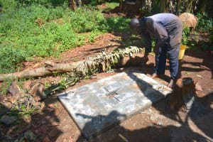 The Water Project: Emulembo Community, Gideon Spring -  Sanitation Platform