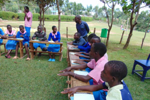 The Water Project: Banja Primary School -  Learning The Ten Steps Of Handwashing