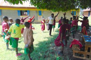 The Water Project: Nanganda Primary School -  Who Can Balance