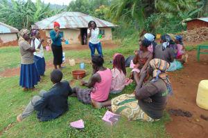 The Water Project: Masuveni Community, Masuveni Spring -  Toothbrushing Demonstrations