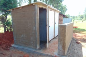The Water Project: Demesi Primary School -  Latrine Block Nearing Completion