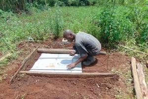 The Water Project: Munenga Community, Francis Were Spring -  Sanitation Platform Construction