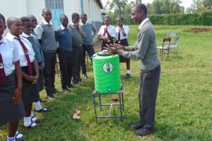 The Water Project: Ebulonga Mixed Secondary School -  Students Demonstrates Handwashing