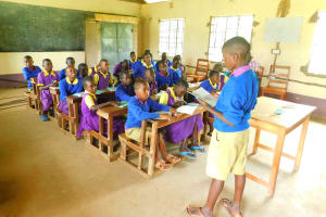 The Water Project: Kapkures Primary School -  A Student Shares His Work