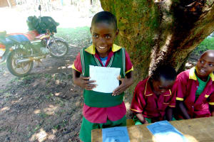 The Water Project: Nanganda Primary School -  Student Alisters Elected Health Club Secretary