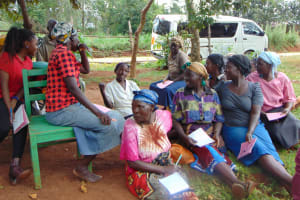 The Water Project: Masuveni Community, Masuveni Spring -  Listening To A Participants Response