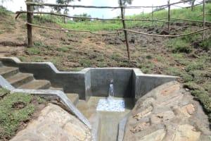 The Water Project: Sambaka Community, Sambaka Spring -  Water Gushes From Sambaka Spring