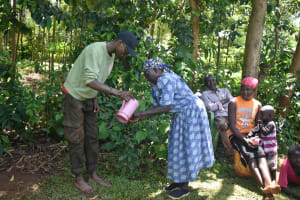 The Water Project: Emulembo Community, Gideon Spring -  Handwashing Session