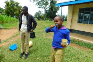 The Water Project: Kapkures Primary School -  Student Volunteers To Demonstrate Toothbrushing