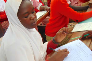 The Water Project: Kakamega Muslim Primary School -  Students Choosing To Register For Their Health Club