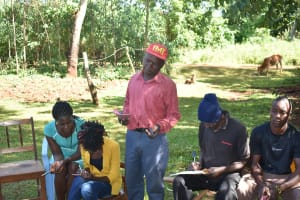 The Water Project: Emulembo Community, Gideon Spring -  Community Member Responds To A Question