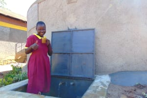 The Water Project: Nanganda Primary School -  Thumbs Up For Clean Water