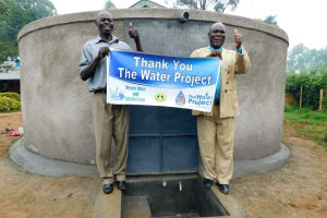 The Water Project: Shichinji Primary School -  School Staff Say Thank You