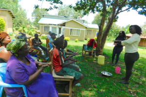 The Water Project: Bumira Community, Madegwa Spring -  Trainer Laura Alulu Leads Handwashing Session