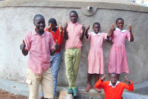 The Water Project: Kakamega Muslim Primary School -  Thumbs Up And Smiles For Clean Water