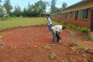 The Water Project: Demesi Primary School -  Rain Tank Foundation Work