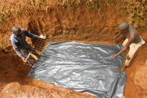 The Water Project: Emulembo Community, Gideon Spring -  Laying Spring Foundation