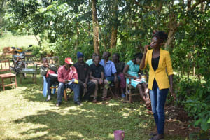 The Water Project: Emulembo Community, Gideon Spring -  Trainer Elvin On Dental Hygiene