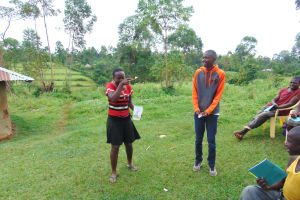 The Water Project: Munenga Community, Francis Were Spring -  A Moment Of Laughter During The Dental Hygiene Session