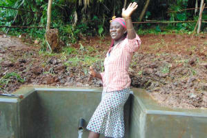 The Water Project: Masuveni Community, Masuveni Spring -  Thumbs Up For Clean Water