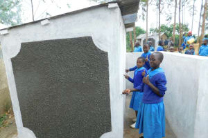 The Water Project: Shichinji Primary School -  Girls With Their New Latrines