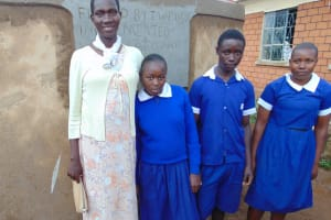 The Water Project: Demesi Primary School -  Student Health Club Patron Mrs Virginia Nekesa With The Elected Club Officials