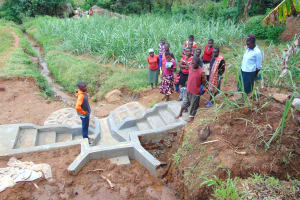 The Water Project: Munenga Community, Francis Were Spring -  Learning About The Spring Under Construction