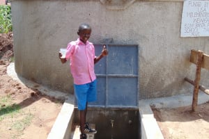The Water Project: Banja Primary School -  Happy Day At The Rain Tank