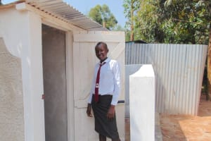 The Water Project: Ebulonga Mixed Secondary School -  A Girl Poses With The New Latrines
