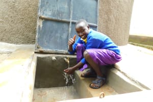 The Water Project: Kapkures Primary School -  Thumbs Up For Clean Water