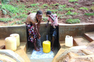 The Water Project: Munenga Community, Francis Were Spring -  Clean Water Flowing At Francis Were Spring