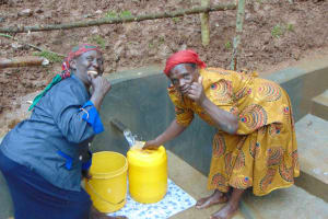 The Water Project: Bumira Community, Madegwa Spring -  Thumbs Up For Clean Water
