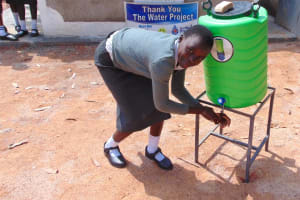 The Water Project: Ebulonga Mixed Secondary School -  Using A Handwashing Station
