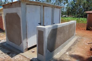 The Water Project: Demesi Primary School -  Completed Latrines