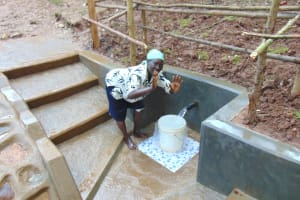 The Water Project: Bumira Community, Madegwa Spring -  No Hands Necessary To Fill