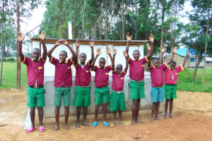 The Water Project: Nanganda Primary School -  Hands Up For New Latrines