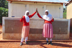 The Water Project: Kakamega Muslim Primary School -  Thumbs Up For Sanitation And Hygiene