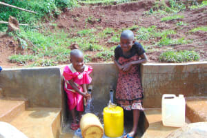 The Water Project: Munenga Community, Francis Were Spring -  All Ages Enjoy Clean Water