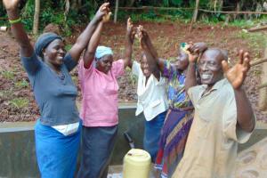 The Water Project: Masuveni Community, Masuveni Spring -  Celebrating The Spring