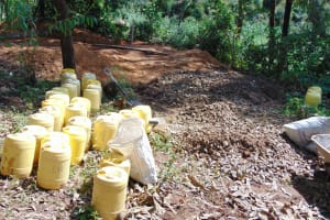 The Water Project: Banja Primary School -  Water And Construction Materials
