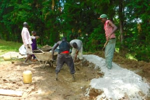 The Water Project: Kapkures Primary School -  Mixing Concrete