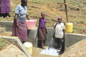 The Water Project: Sambaka Community, Sambaka Spring -  Thumbs Up For Clean Water