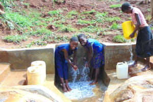 The Water Project: Munenga Community, Francis Were Spring -  Say Cheese