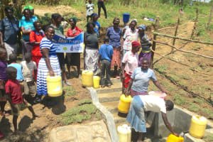 The Water Project: Sambaka Community, Sambaka Spring -  Happy Day At The Spring
