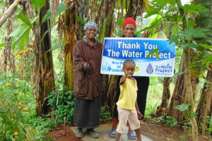 The Water Project: Masuveni Community, Masuveni Spring -  Proud New Sanitation Platform Owners