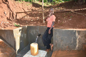 The Water Project: Emulembo Community, Gideon Spring -  Thumbs Up For Clean Water