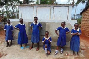 The Water Project: Demesi Primary School -  Thumbs Up For New Vip Latrines