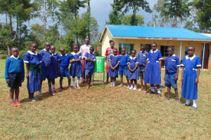 The Water Project: Demesi Primary School -  Standing With A New Handwashing Station
